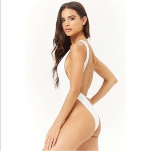 NWT Forever 21 White Swimsuit